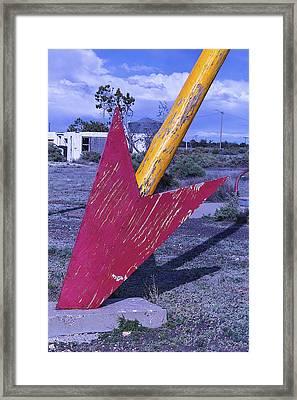 Red Arrow Head Framed Print by Garry Gay