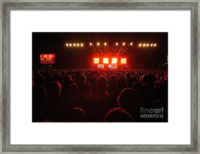 Red Audience Framed Print by Andy Smy