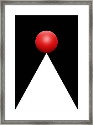 Red Ball 28b V Framed Print by Mike McGlothlen