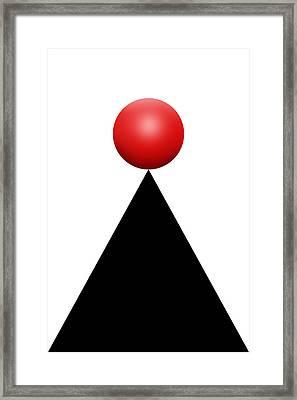 Red Ball 28c V Framed Print by Mike McGlothlen