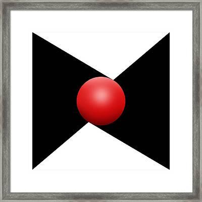Red Ball S Q 1 Framed Print by Mike McGlothlen