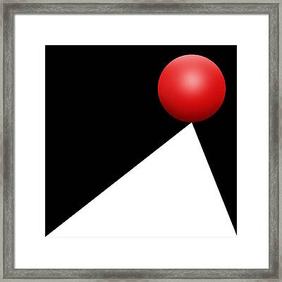 Red Ball S Q 10 Framed Print by Mike McGlothlen