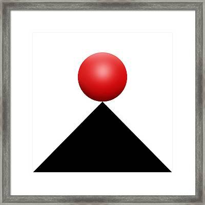 Red Ball S Q 4 Framed Print by Mike McGlothlen