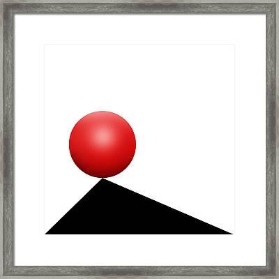 Red Ball S Q 7 Framed Print by Mike McGlothlen