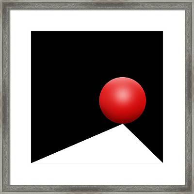 Red Ball S Q 8 Framed Print by Mike McGlothlen