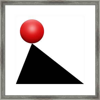 Red Ball S Q 9 Framed Print by Mike McGlothlen