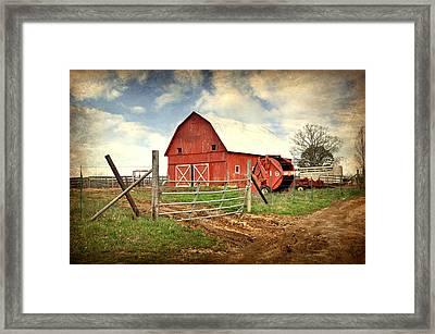 Red Barn Dent County Framed Print by Marty Koch