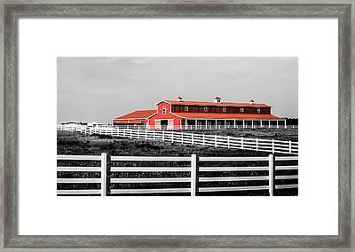 Red Barn Framed Print by Parker Cunningham