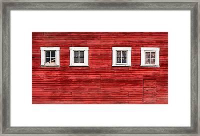 Red Barn Side Framed Print by Todd Klassy