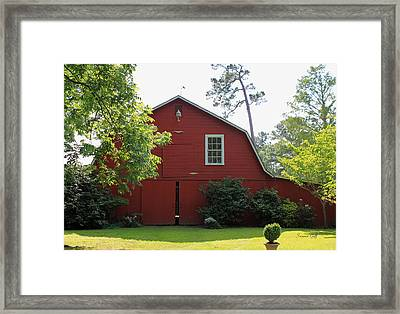 Red Barn Framed Print by Suzanne Gaff