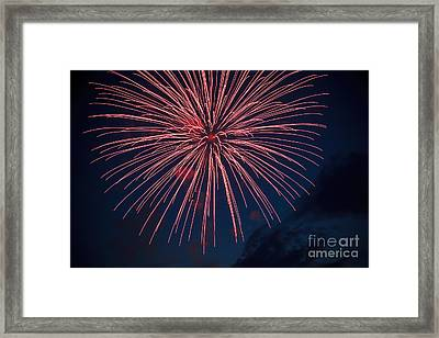 Red Blast Framed Print by Robert Bales