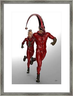Red Boys Circus Framed Print by Quim Abella