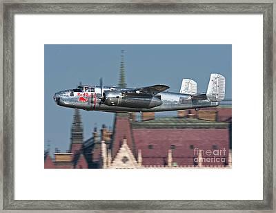 Red Bull North American B-25j Mitchell Framed Print by Anton Balakchiev