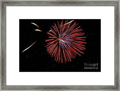 Red Burst Framed Print by Norman  Andrus