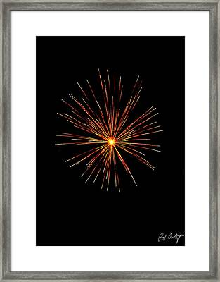 Red Burst Framed Print by Phill Doherty