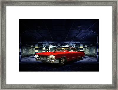 Red Caddie Framed Print by Steven Agius