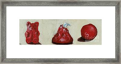 Red Candy Framed Print by Robin Wiesneth