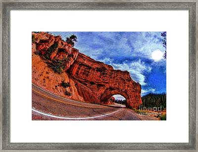 Red Canyon Tunnel Bryce Canyon Framed Print by Blake Richards
