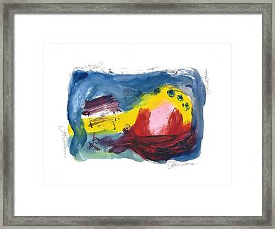 Red Cat In Sauna Framed Print by Toni Johnstone