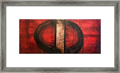 Red Circle Of Life Framed Print by Ellen Beauregard
