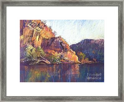 Red Cliffs Framed Print by Pamela Pretty