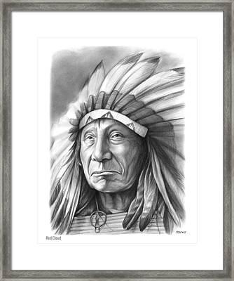 Red Cloud Framed Print by Greg Joens