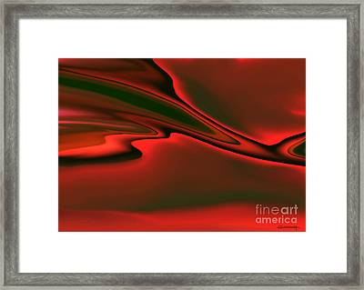 Red Clouds Framed Print by Christian Simonian
