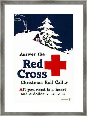 Red Cross Poster, C1915 Framed Print by Granger