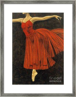 Red Dancer Framed Print by Lawrence Supino