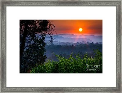 Red Dawn Framed Print by Inge Johnsson