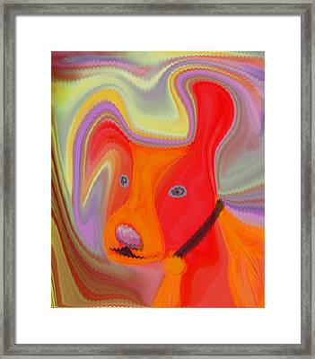 Red Dog Framed Print by Ruth Palmer