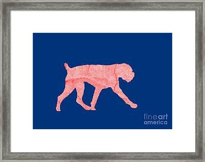 Red Dog Tee Framed Print by Edward Fielding