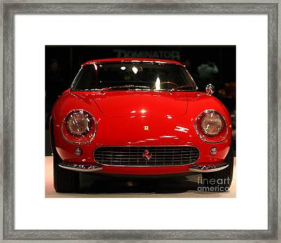 Red Farrari Framed Print by Wingsdomain Art and Photography