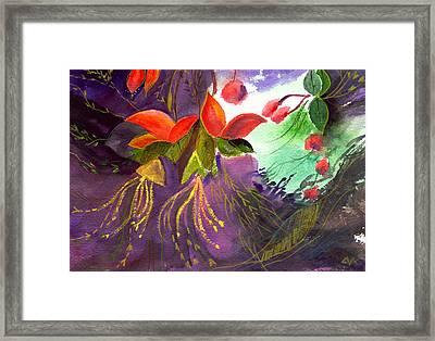 Red Flowers Framed Print by Anil Nene