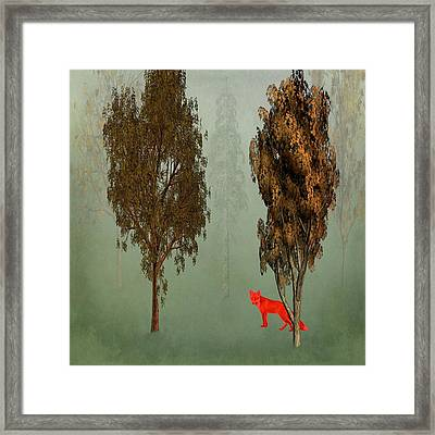 Red Fox Forest Framed Print by Movie Poster Prints