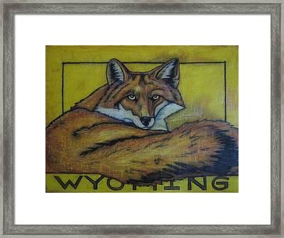 Red Fox Wyoming Framed Print by Lauri Kraft