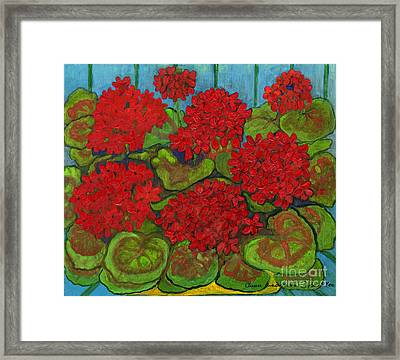 Red Geranium Framed Print by Anna Folkartanna Maciejewska-Dyba