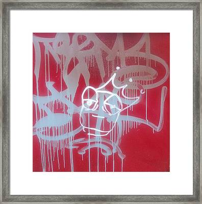 Red Graffiti Framed Print by Anna Villarreal Garbis