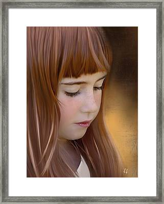 Red Hair ...  Framed Print by Jacqueline Schreiber