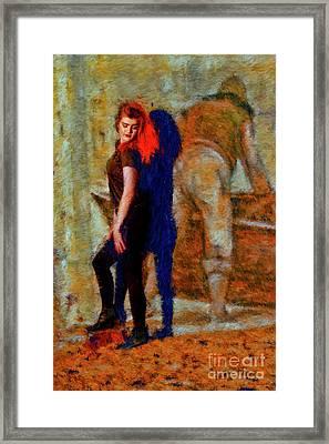 Red Hair Dawson Adrian Framed Print by Blake Richards