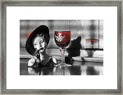 Red Hat Lady Framed Print by Greg Sharpe