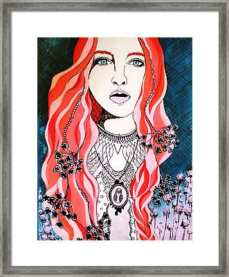 Red Head Framed Print by Amy Sorrell