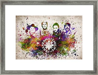 Red Hot Chili Peppers In Color Framed Print by Aged Pixel