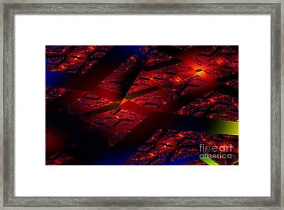 Red Hot Confetti Framed Print by Clayton Bruster