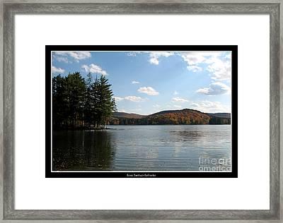Red House Lake Allegany State Park Ny Framed Print by Rose Santuci-Sofranko