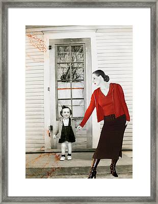 Red Jane - Self Portrait Framed Print by Jaeda DeWalt