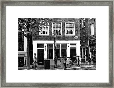 Red Light Booths Mono Framed Print by John Rizzuto