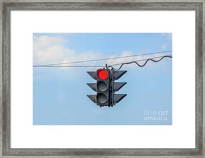 Red Light Framed Print by Patricia Hofmeester