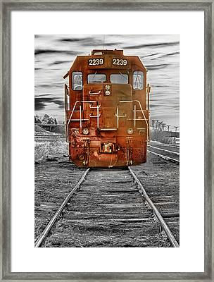 Red Locomotive Framed Print by James BO  Insogna