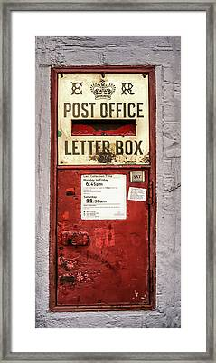 Red Mailbox Framed Print by Georgia Fowler